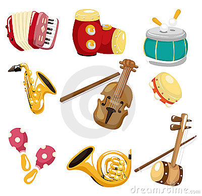 Cartoon musical instrument  icon