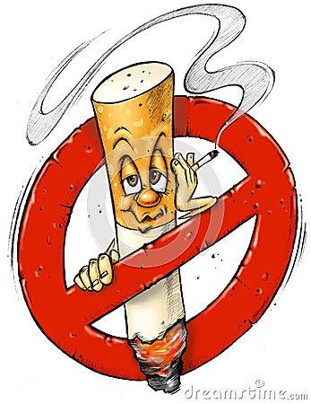 Free Cartoon NO SMOKING Sign Royalty Free Stock Photography - 8917037