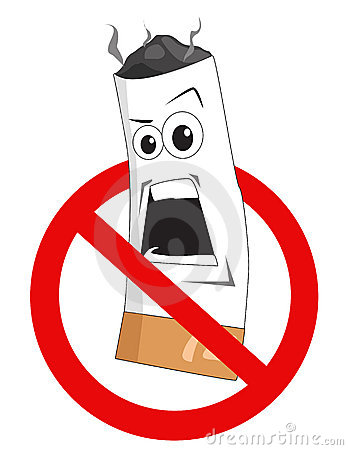 Cartoon No Smoking Sign Royalty Free Stock Photo - Image: 9281465