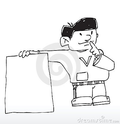 Cartoon notice board