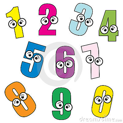 Cartoon Numbers Stock Photo Image 16096950