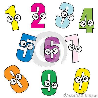 Number Cartoon
