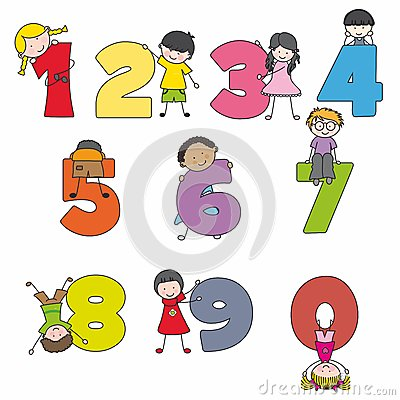 Cartoon numbers and children