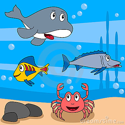 Cartoon Ocean Life [3]