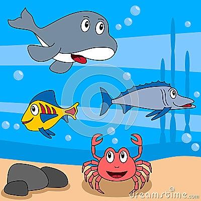 Free Cartoon Ocean Life [3] Stock Photo - 9219400
