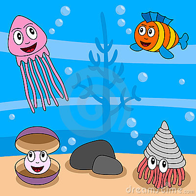 Cartoon Ocean Life [4]