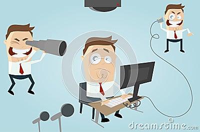 Cartoon office observation