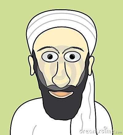 Cartoon Osama bin Laden