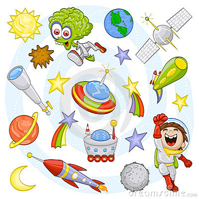 Free Cartoon Outer Space Set Stock Photos - 20622813