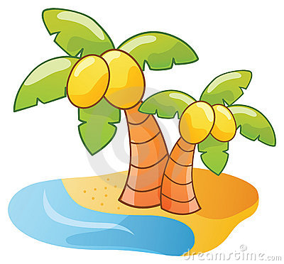 Cartoon palm tree