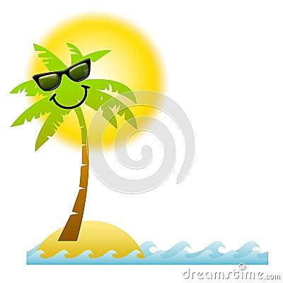 Cartoon Palm Tree Sunglasses