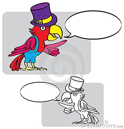 Cartoon-parrot-hat
