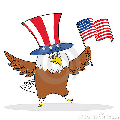 Cartoon patriotic eagle