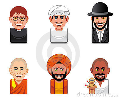 Cartoon people icons (religion)