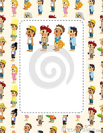 Free Cartoon People Job Seamless Pattern Royalty Free Stock Photography - 20893307