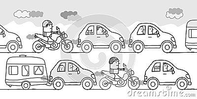 22+ Illustration Traffic Jam Cartoon Pictures