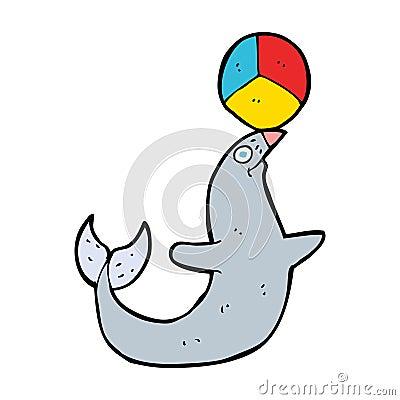 cartoon performing seal