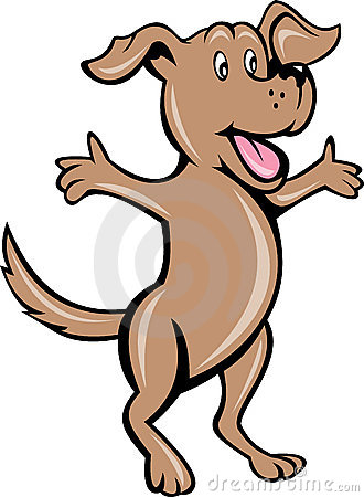 Cartoon pet puppy dog