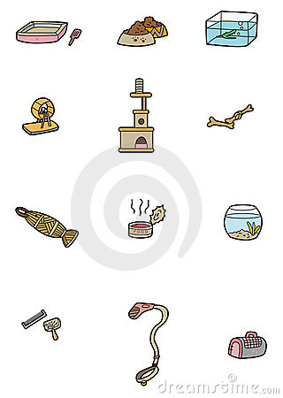 Cartoon pet tool icon
