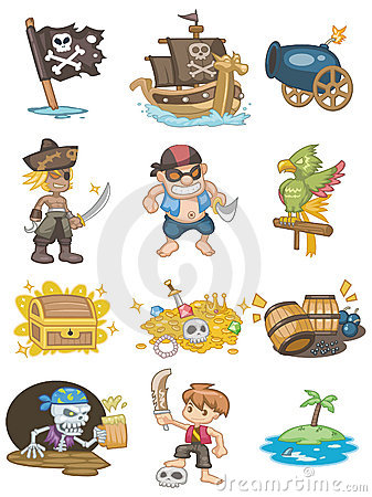 Free Cartoon Pirate Icon Stock Photo - 17818740
