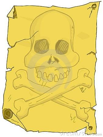 Cartoon of pirate poster