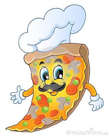 Cartoon pizza chef