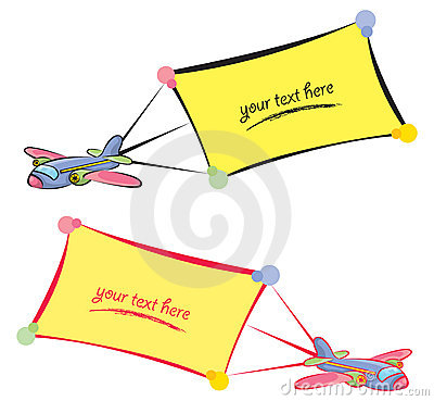Cartoon planes with banners