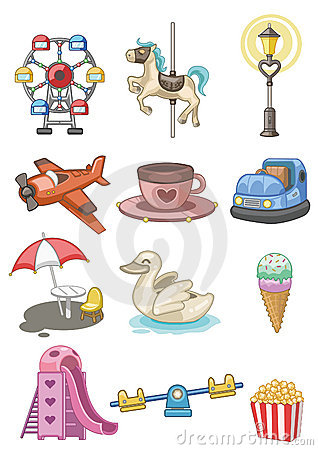 Free Cartoon Playground Icon Stock Photography - 17635762