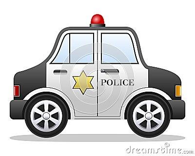Cartoon Police Car Vector Illustration