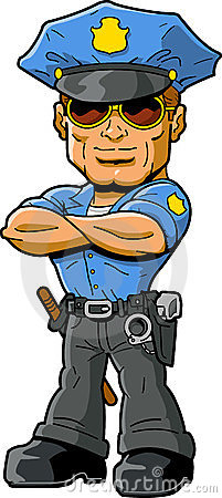 Cartoon Policeman With Cool Sunglasses Stock Photography - Image ...