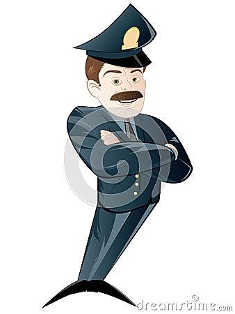 Cartoon policeman in uniform