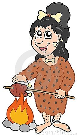 Cartoon prehistoric woman