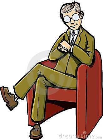 Cartoon Psychiatrist Sitting On His Chair Royalty Free ...