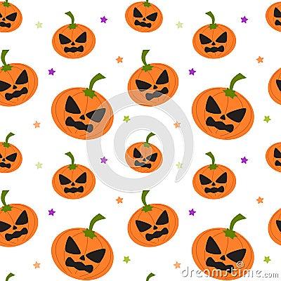 Cartoon pumpkin seamless pattern background illustration for Cartoon pumpkin patterns