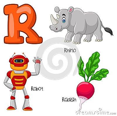 Free Cartoon R Alphabet Royalty Free Stock Photo - 123696915