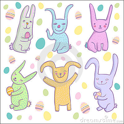 Cartoon rabbits