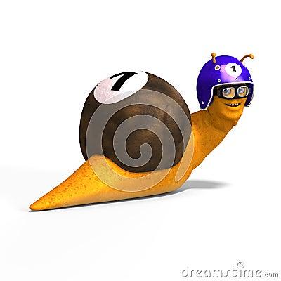 Cartoon Racing Snail Stock Illustration Illustration Of