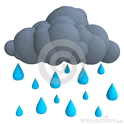 Free Cartoon Rain Cloud From Plasticine Or Clay Stock Images - 51964104