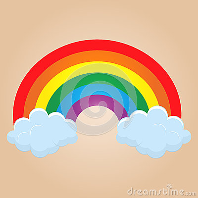 Cartoon rainbow