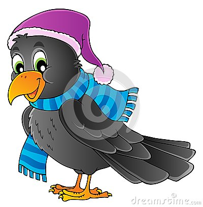Cartoon raven theme image 1