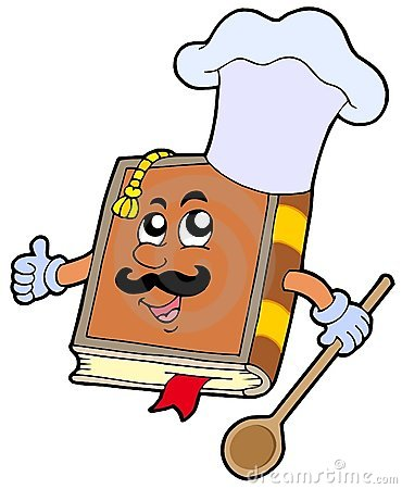 Cartoon recipe book