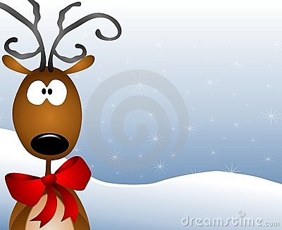 Cartoon Reindeer Background