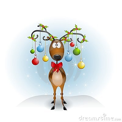 Cartoon Reindeer Ornaments