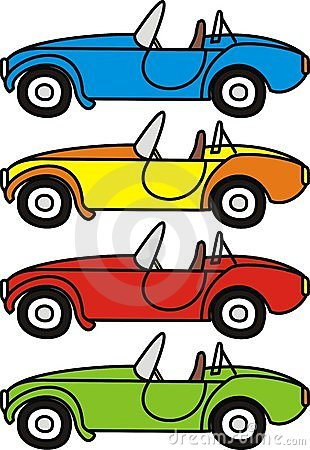 Cartoon retro cars