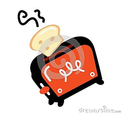 Cartoon retro toaster
