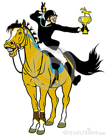 Cartoon rider winner
