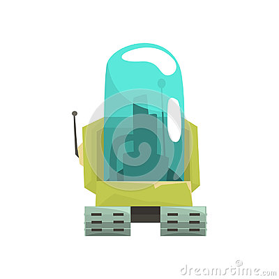 Free Cartoon Robot Crawler Character With Glass Blue Lense Vector Illustration Stock Image - 98022191