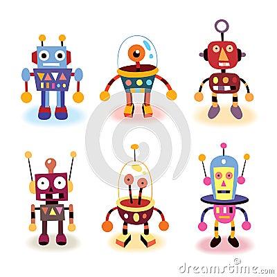 Cartoon robots set