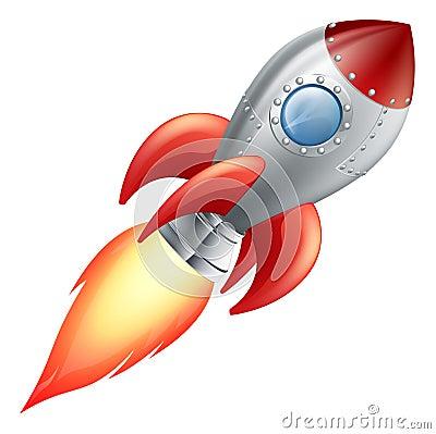 Free Cartoon Rocket Space Ship Royalty Free Stock Image - 26204286