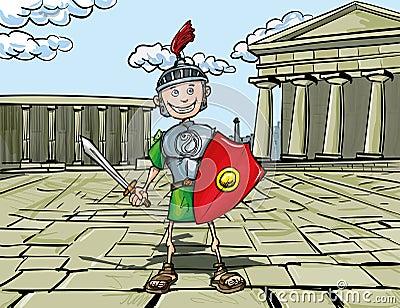 Cartoon Roman Legionary